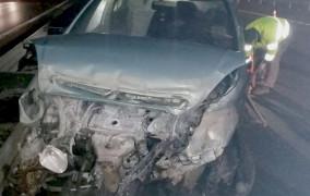 Miał 3 promile, wiózł autem pasierba i rozbił się na obwodnicy
