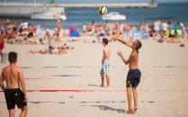 Wiosenne aktywności na plaży i w parku....