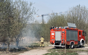 Coraz więcej pożarów traw w Trójmieście