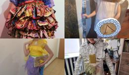 Moda z recyklingu. Uczniowie z podstawówki stworzyli ekokreacje