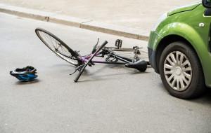 Dużo wypadków z rowerami w 2020