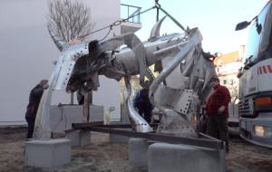 Największa stalowa rzeźba w Polsce stanęła we Wrzeszczu