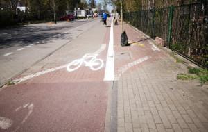 Prace przy drodze rowerowej wzdłuż ul. Rzemieślniczej w Sopocie