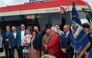 Prof. Jerzy Samp został patronem tramwaju w Gdańsku