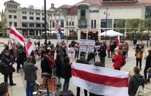 Krzyk dla Białorusi. Manifestacja wspierająca Romana Protasiewicza