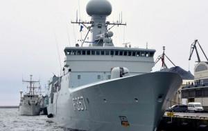 Okręty NATO w centrum Gdyni