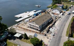 Nowa przystań na Wyspie Sobieszewskiej nabiera kształtów