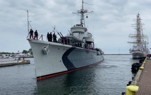 ORP Błyskawica znów cumuje w centrum Gdyni