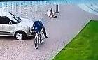 Wywrócił kobietę i uciekł na rowerze