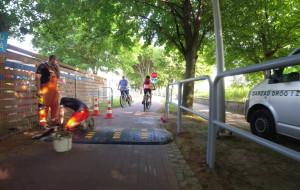 """Próg zwalniający na drodze rowerowej w Sopocie. """"To przykra konieczność"""""""