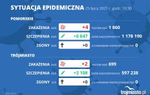 Koronawirus raport zakażeń 25.07.2021 (niedziela)