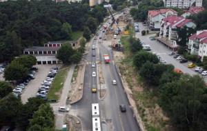 Rozbudowa Kwiatkowskiego: pasy dla autobusów, koniec prac w styczniu