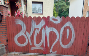 Zmasowany atak grafficiarzy w Gdyni
