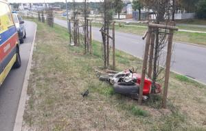 Pijany motocyklista bez uprawnień spowodował kolizję