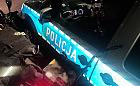 Pijany motocyklista upadł na radiowóz