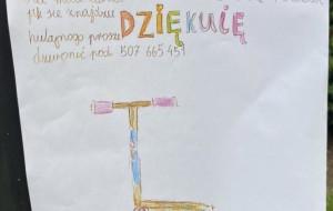 8-letnia Zosia z Oliwy szuka swojej hulajnogi