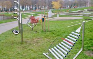 Powstanie park muzyczny z instrumentami do grania