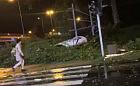 Nocna wichura w Trójmieście. Strażacy wyjeżdżali do 50 zdarzeń