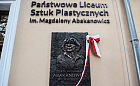 Magdalena Abakanowicz patronką Państwowego Liceum Sztuk Plastycznych w Gdyni