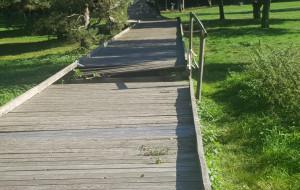 Drewniany pomost w parku Reagana przejdzie gruntowny remont