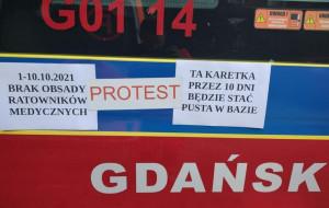 Protest ratowników od piątku. W Gdańsku miało wyjechać tylko 6 z 14 karetek