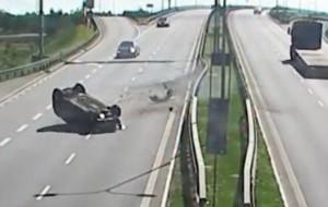 Nagrali momenty najgroźniejszych wypadków na trójmiejskich drogach