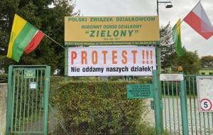 Działkowcy z Wiczlina protestują przeciw planom budowy drogi. Będzie pikieta