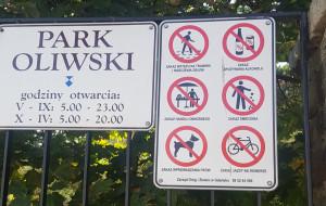 """Park Oliwski: """"zakaz"""" wyprowadzania psów to tylko """"prośba"""""""