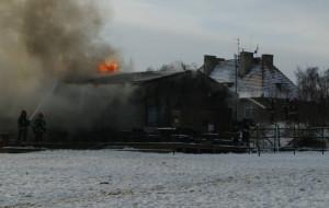 Pożar tawerny w Jelitkowie