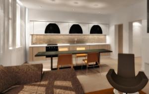 Aranżacje wnętrz: mieszkanie w kamienicy w nowym układzie