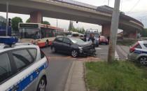 Zderzenie radiowozu z samochodem osobowym