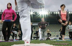 Ćwiczyli jogę z gdyńskimi sportowcami