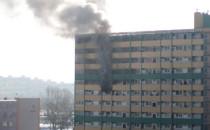 Pożar w falowcu na Przymorzu