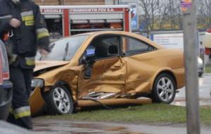 Groźny wypadek na skrzyżowaniu przed Halą Olivia