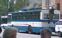 Zapalił się trolejbus, nikt nie ucierpiał