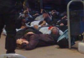 Chuligani na peronie, policja pomogła pasażerom