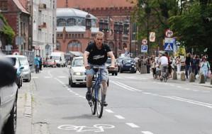 Trudno jeździć po gdańskim Śródmieściu