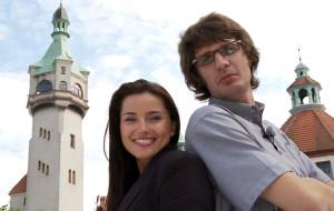 Kod Dachowiec na komino-latarni w Sopocie
