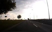 Ugięcie jezdni na Węźle Elbląska