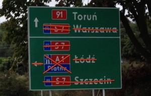 Drogowskazy na Węźle Lipce. (Nie) tędy droga?