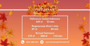Październikowa promocja w Aqua Spa Sopot!