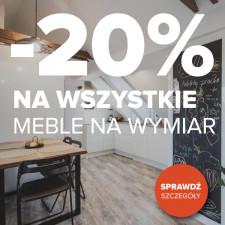 Gdańska Fabryka Mebli -20% na wszystkie meble!