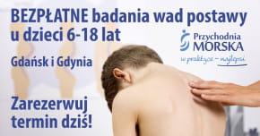 BEZPŁATNE badania w kierunku wad postawy u dzieci w wieku 6-18 lat | Gdynia 25.09.2021