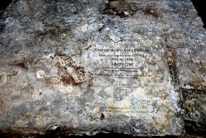 Aluminiowe matryce z II wojny do drukowania map