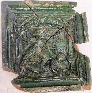 XVI-wieczny kafel zdobił piec w jednej gdańskich kamienic.