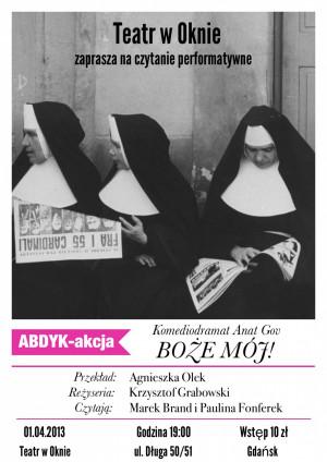 Boże mój! - czytanie performatywne komediodramatu Anat Gov