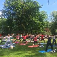 Wakacyjna joga w parku