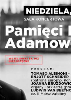Pamięci Pawła Adamowicza - koncert symfoniczny