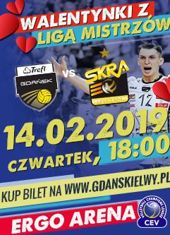 Siatkówka mężczyzn: TREFL Gdańsk - PGE Skra Bełchatów