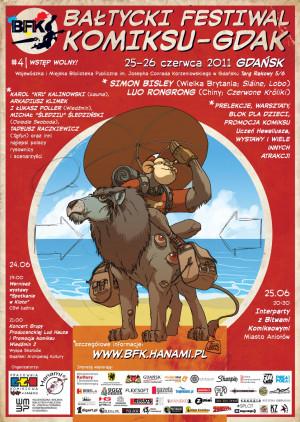 Plakat reklamujący Bałtycki Festiwal Komiksowy
